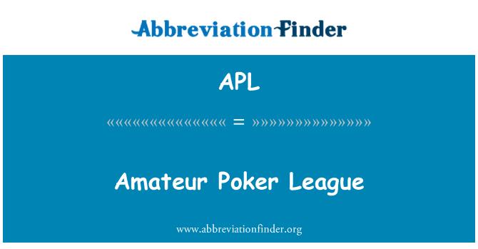 APL: Amateur Poker League