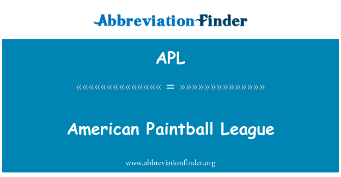 APL: American Paintball League
