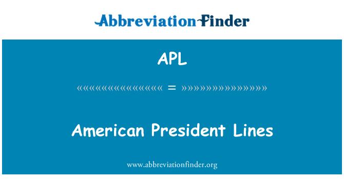 APL: American President Lines