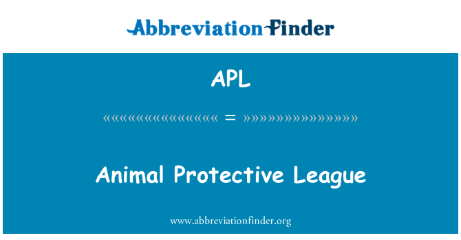 APL: Animal Protective League