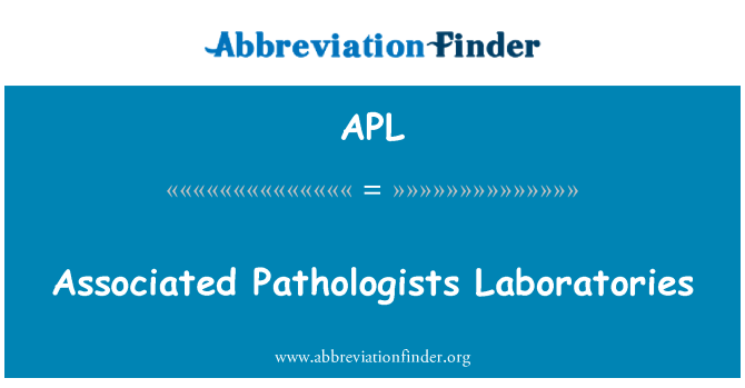 APL: Associated Pathologists Laboratories