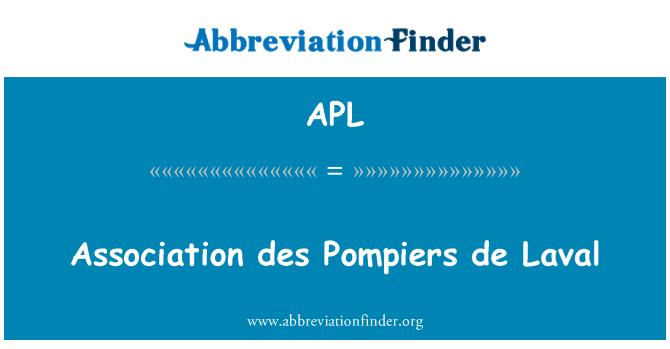 APL: Association des Pompiers de Laval