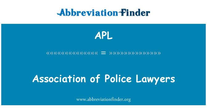 APL: Association of Police Lawyers