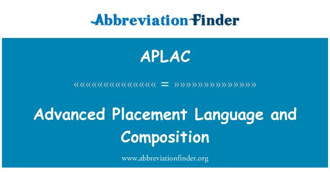 APLAC: Lengua de colocación avanzada y composición