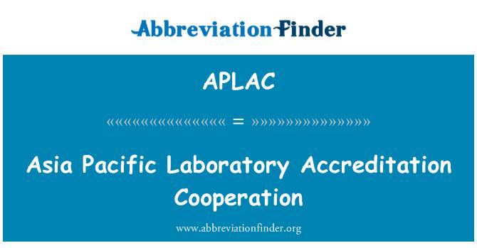 APLAC: Cooperación de acreditación de laboratorio del Pacífico de Asia