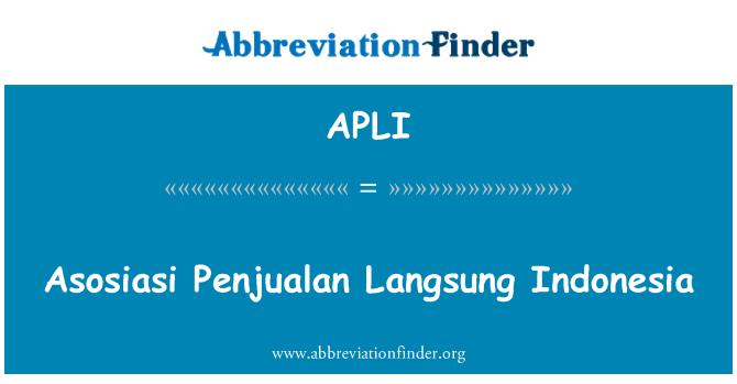 APLI: Asosiasi Penjualan Langsung Indonézia