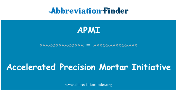 APMI: Accelerated Precision Mortar Initiative