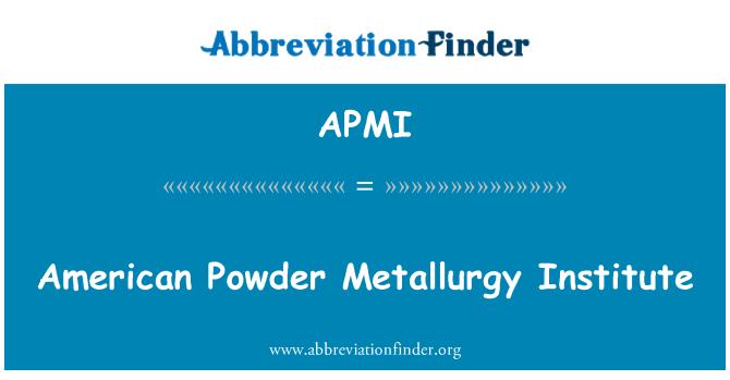 APMI: Instituto de metalurgia de polvo americano