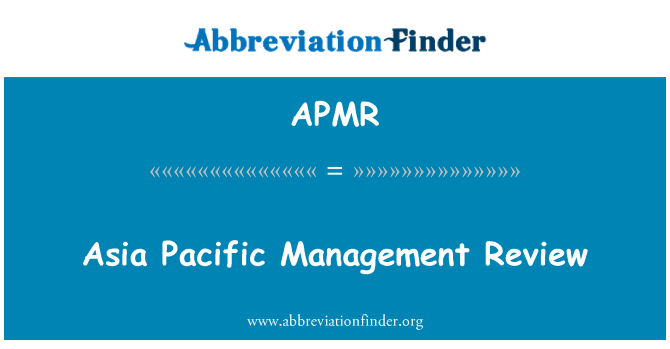 APMR: Asia Pacific Management Review