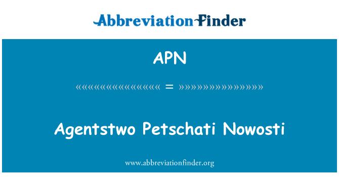 APN: Agentstwo Petschati Nowosti