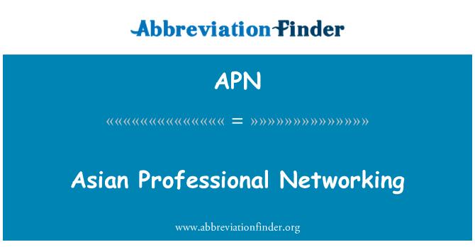 APN: Asian Professional Networking