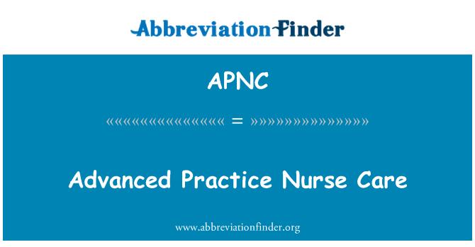APNC: Gelişmiş uygulama hemşire Bakımı