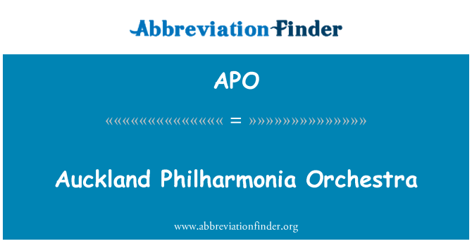 APO: Auckland Philharmonia Orchestra