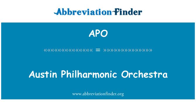 APO: Austin Philharmonic Orchestra
