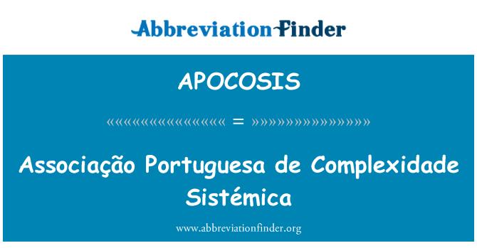 APOCOSIS: Associação Portuguesa de Complexidade Sistémica