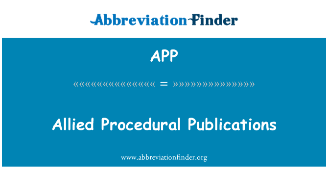 APP: Allied Procedural Publications