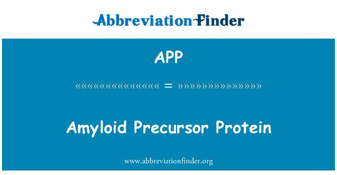 APP: Amyloid Precursor Protein