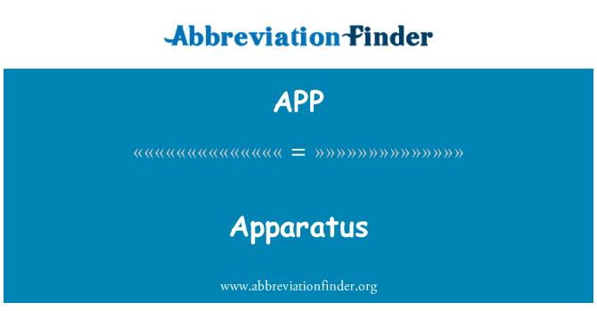APP: Apparatus