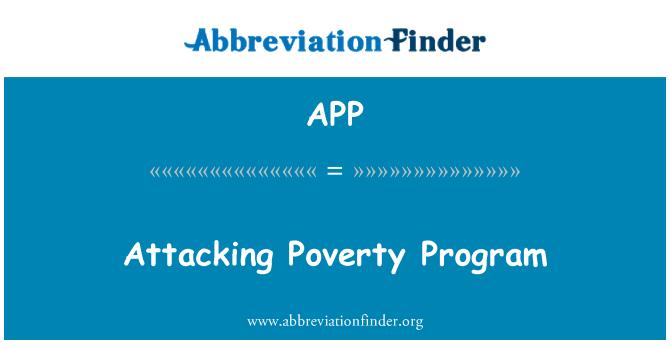 APP: Attacking Poverty Program