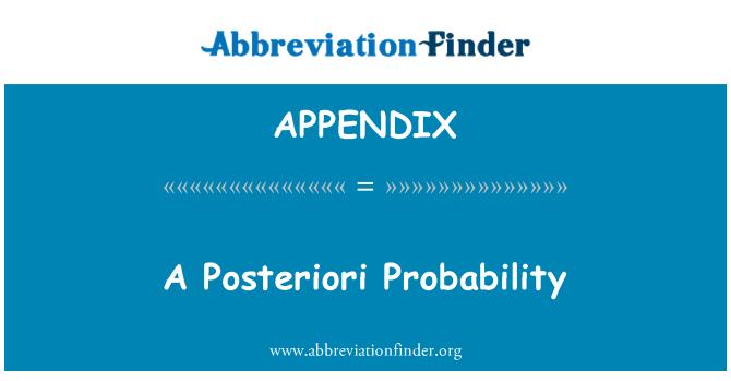 APPENDIX: A Posteriori Probability