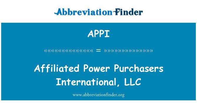 APPI: Potencia afiliadas compradores International, LLC