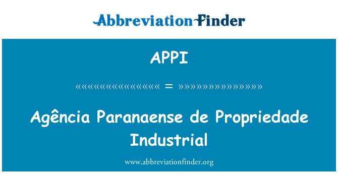 APPI: Agência Paranaense de Propriedade Industrial