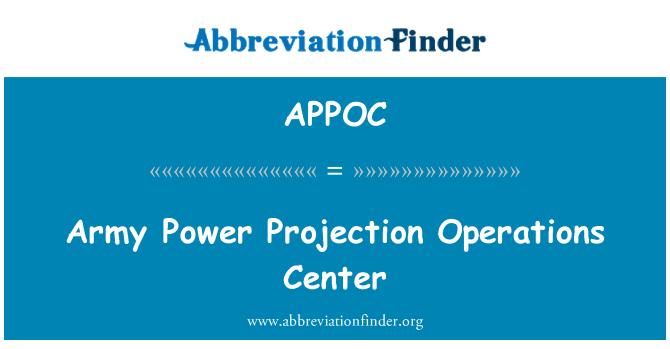 APPOC: Centro de operaciones de proyección de poder de ejército