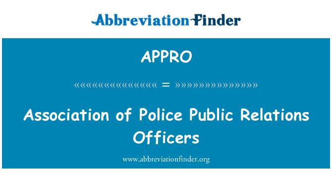 APPRO: Politseinikud avalike suhete Assotsiatsioon