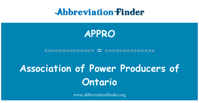 APPRO: Power tootjate Ontario