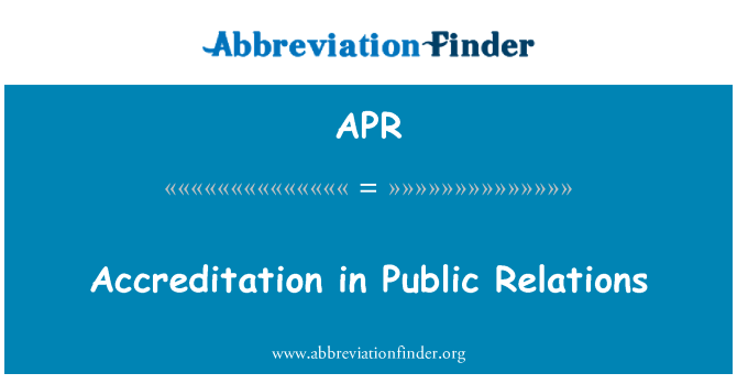APR: Accreditation in Public Relations