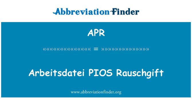 APR: Arbeitsdatei PIOS Rauschgift