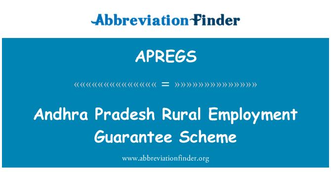 APREGS: Andhra Pradesh Rural Employment Guarantee Scheme