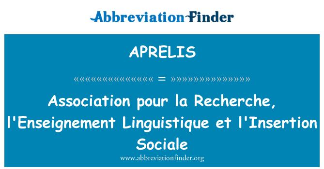 APRELIS: Association pour la Recherche, l'Enseignement Linguistique et l'Insertion Sociale