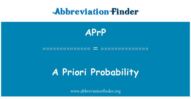 APrP: A Priori Probability