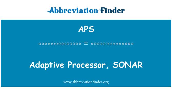 APS: Adaptive Processor, SONAR