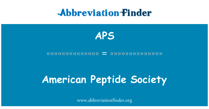 APS: American Peptide Society