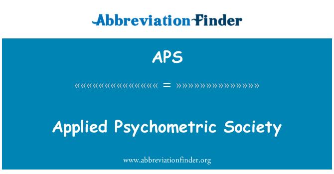 APS: Applied Psychometric Society