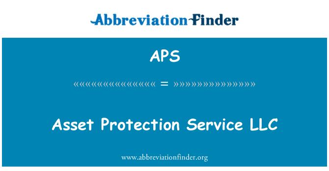APS: Asset Protection Service LLC