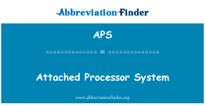 APS: Attached Processor System