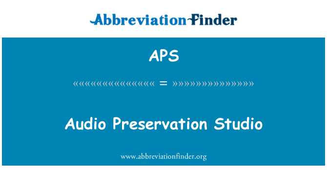 APS: Audio Preservation Studio