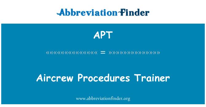 APT: Aircrew Procedures Trainer