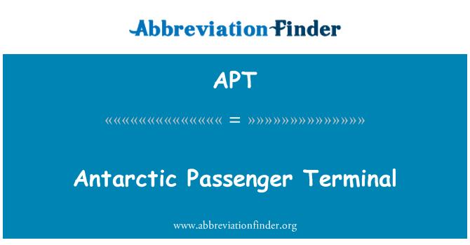 APT: Antarctic Passenger Terminal