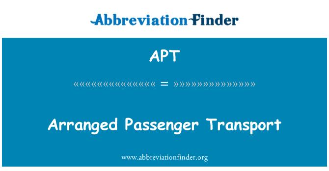 APT: Arranged Passenger Transport