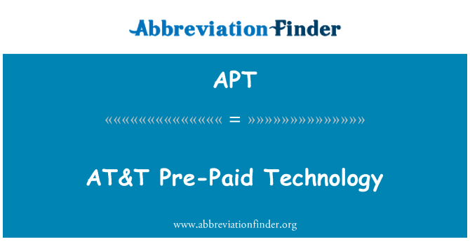 APT: AT&T Pre-Paid Technology