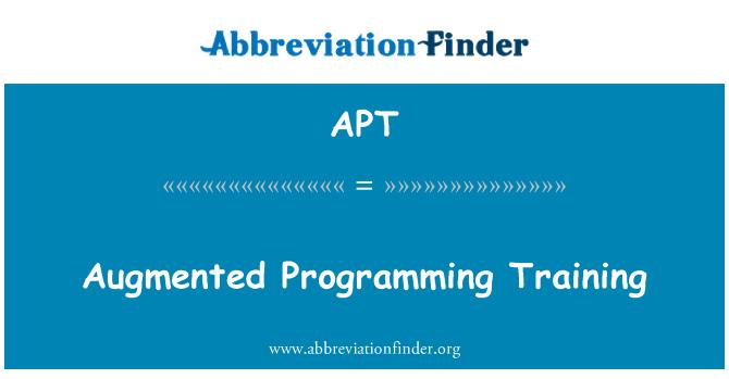 APT: Augmented Programming Training