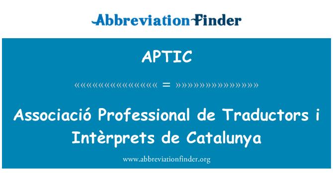 APTIC: Associació Professional de Traductors i Intèrprets de Catalunya