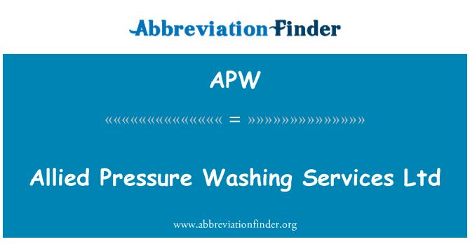 APW: Allied Pressure Washing Services Ltd