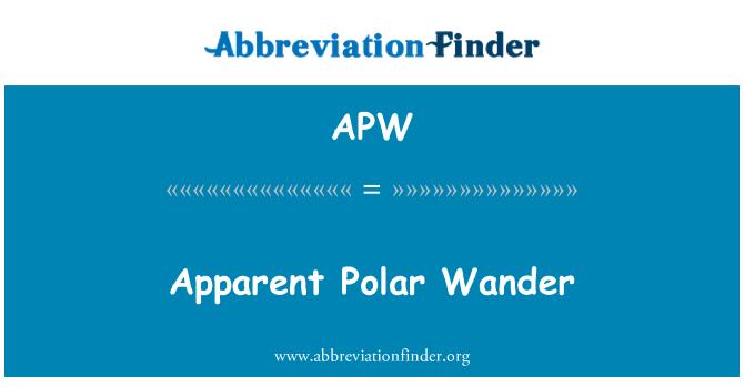 APW: Apparent Polar Wander