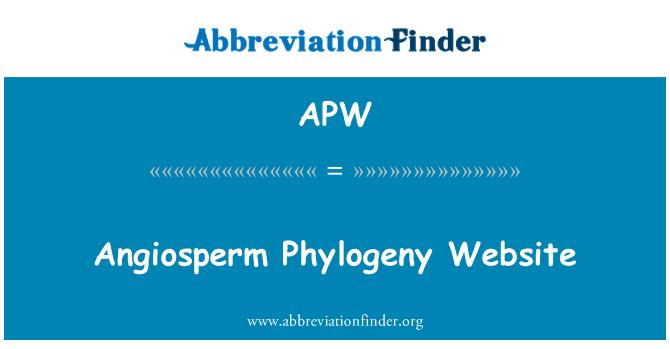 APW: Angiosperm Phylogeny Website