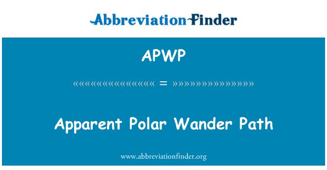 APWP: Apparent Polar Wander Path